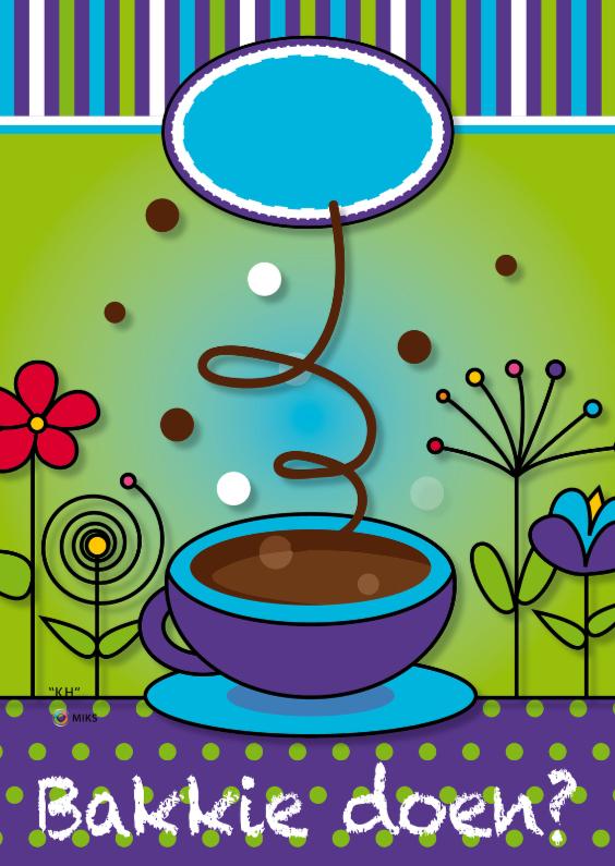 Uitnodigingen - Vrolijk kopje koffie