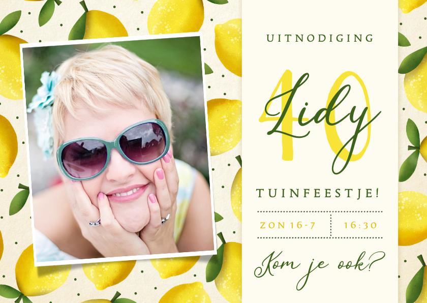 Uitnodigingen - Vrolijke zomerse uitnodiging verjaardagsfeest of tuinfeest