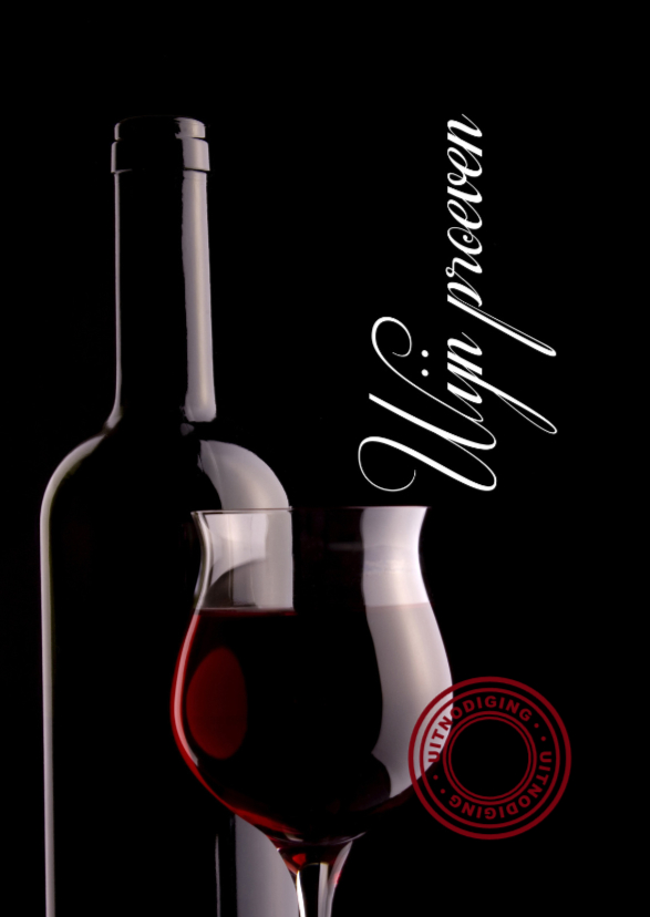Uitnodigingen - Wijn proeven-isf