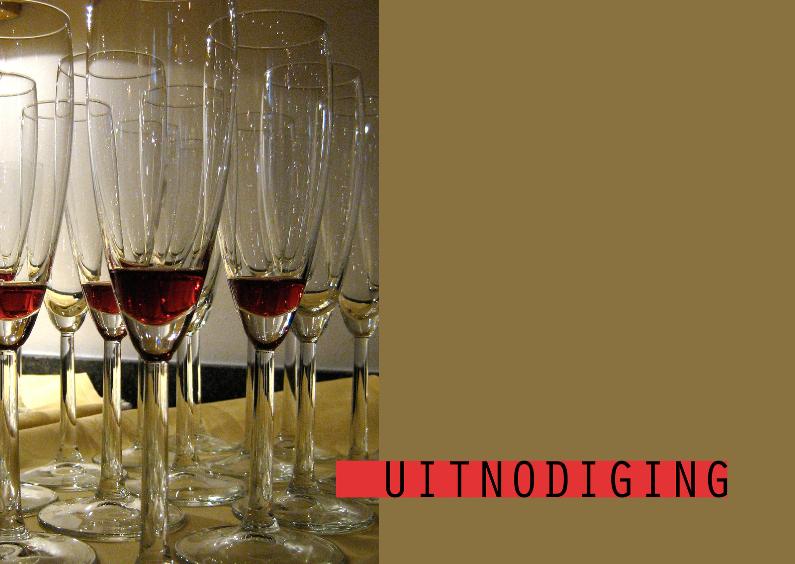 Uitnodigingen - Wijnglazen