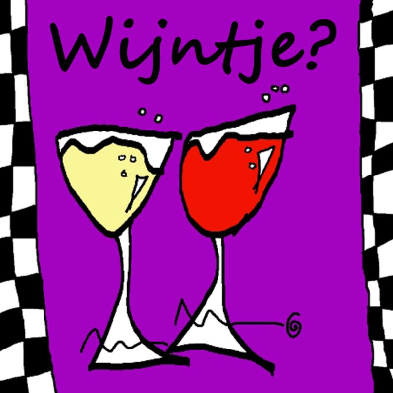 Uitnodigingen - Wijntje