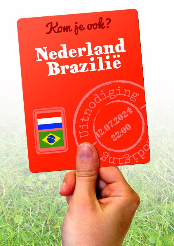 Uitnodigingen - WK Nederland - Brazilië - BK