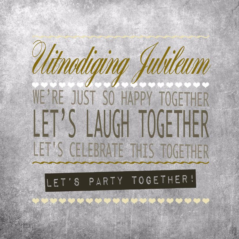 Uitnodigingen - Woorden Krijtbord Jubileum