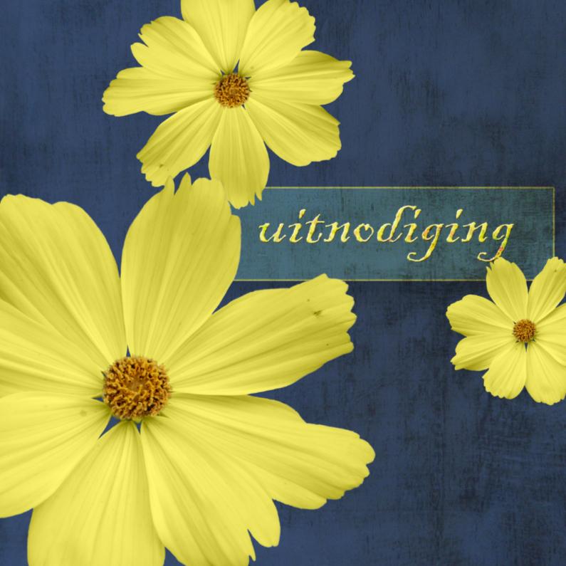 Uitnodigingen - yellow Flowers