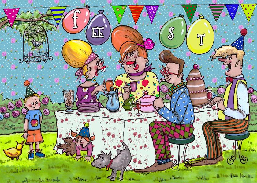 Uitnodigingen - Zonnig tuinfeestje
