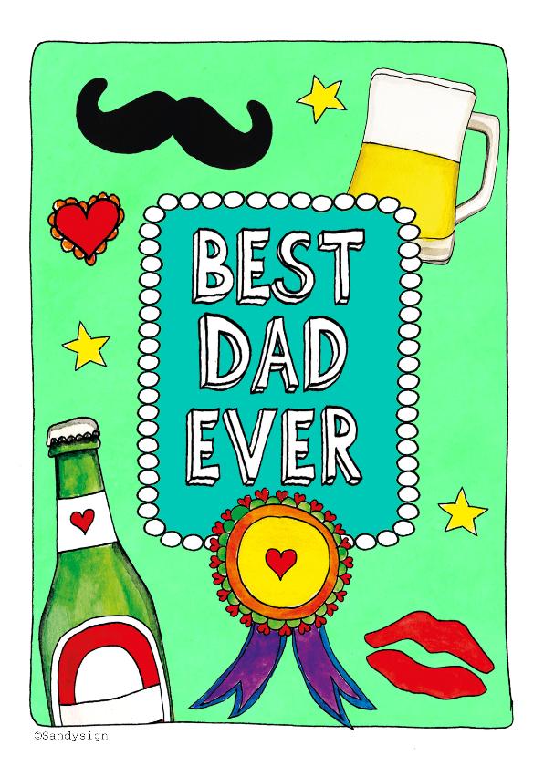 Vaderdag kaarten - Best dad ever - SD