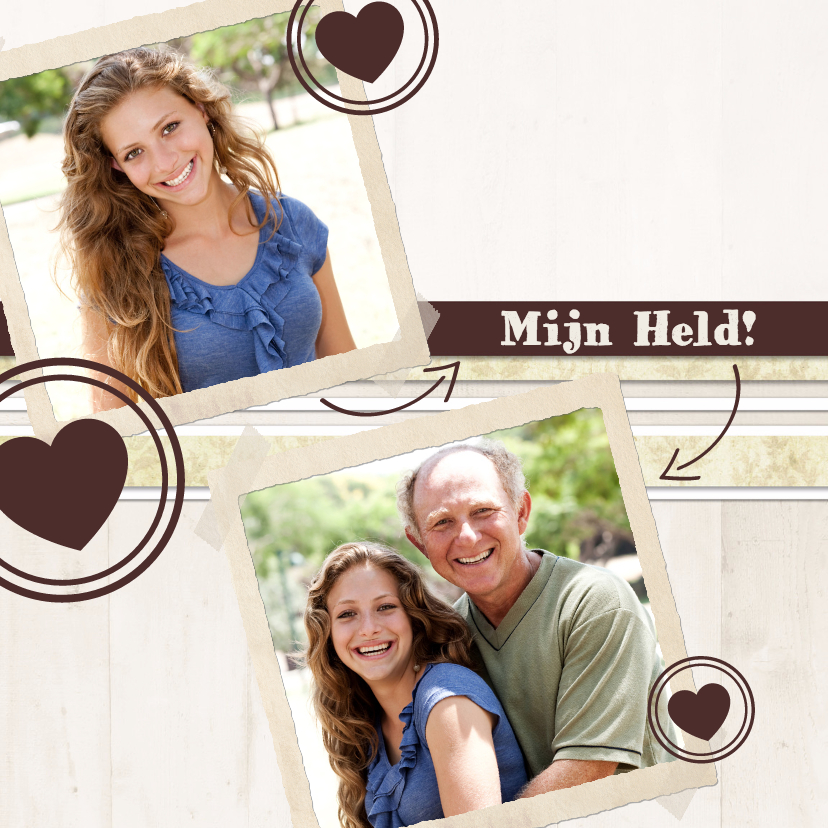 Vaderdag kaarten - Collage Mijn Held - BK