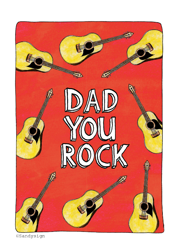 Vaderdag kaarten - Dad you rock - SD
