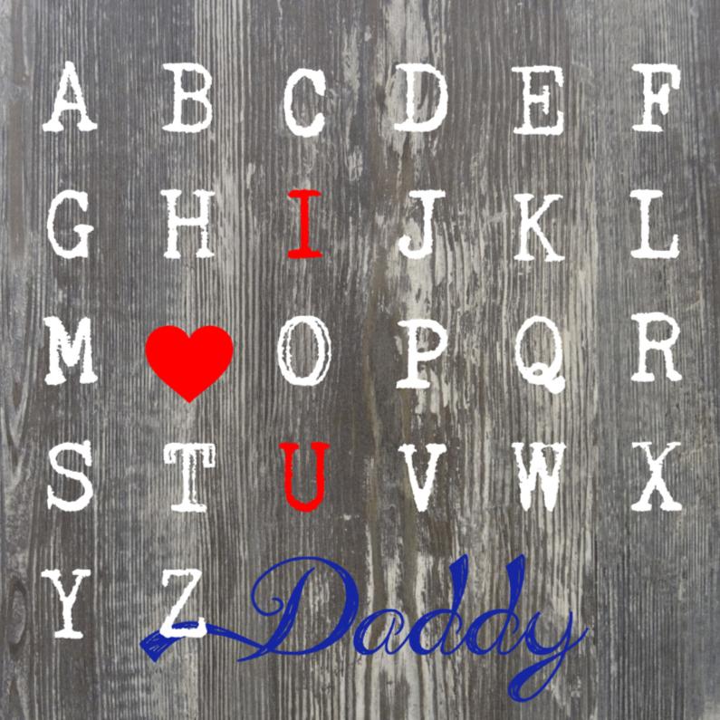 Vaderdag kaarten - Daddy abc....