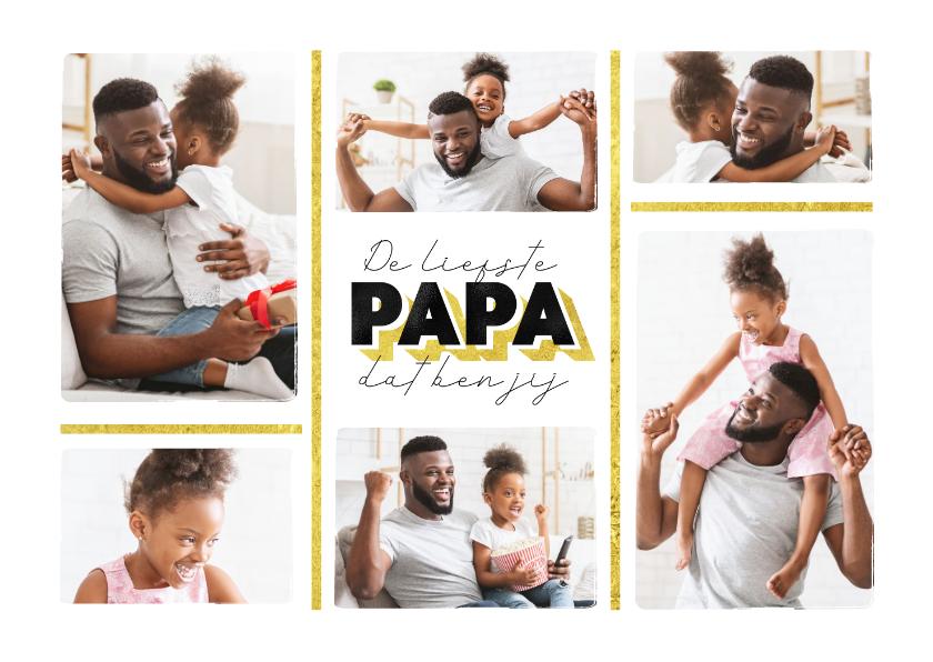 Vaderdag kaarten - Fotokaart vaderdag de liefste papa dat ben jij