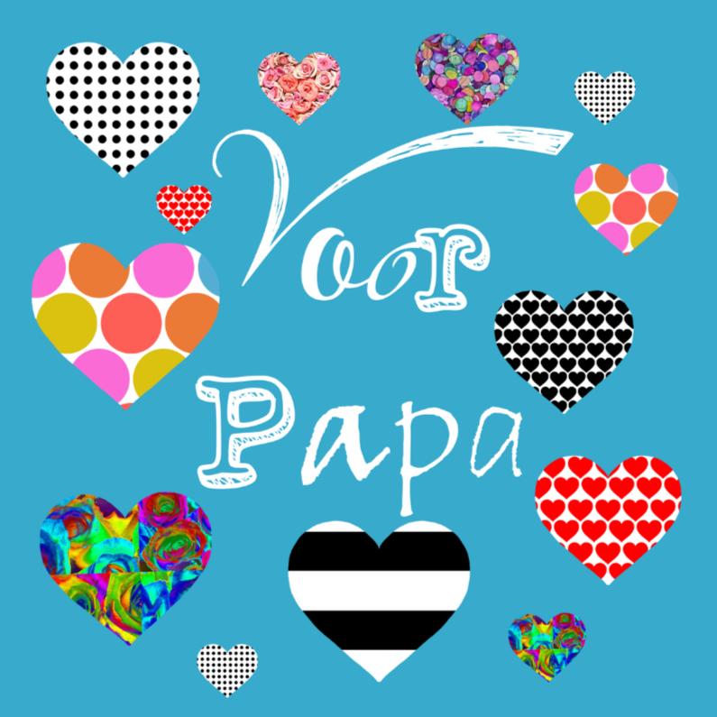 Vaderdag kaarten - Hartjes voor papa!