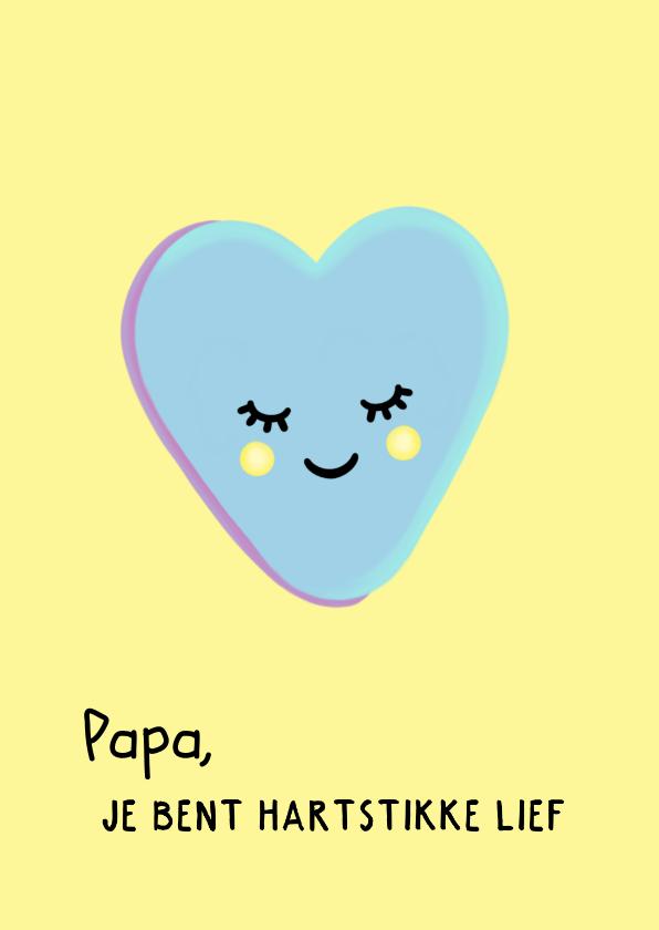 Vaderdag kaarten - Hartstikke lieve vaderdagkaart met hartjessnoepje