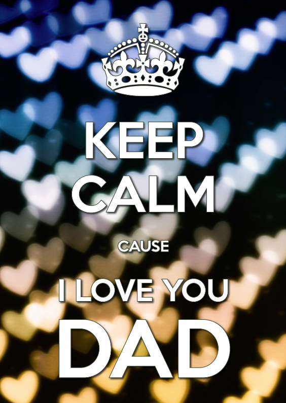 Vaderdag kaarten - Keep Calm I Love you DAD - OT