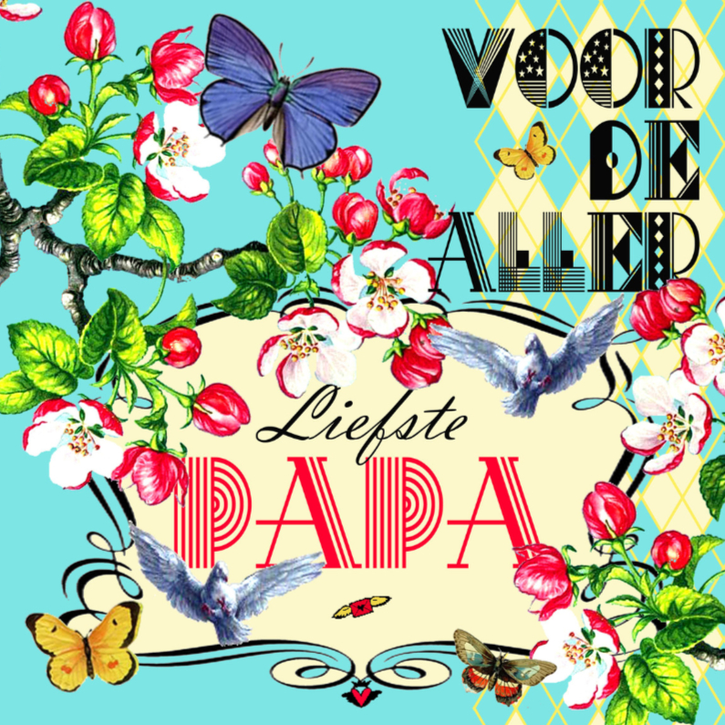 Vaderdag kaarten - KendieKaart-Vaderdag-Blossom