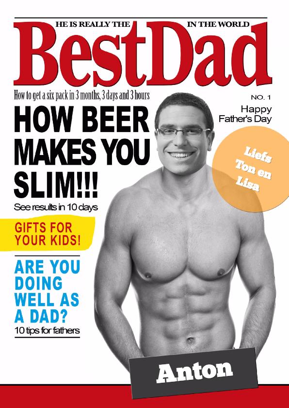 Vaderdag kaarten - Magazine Best Dad - BK
