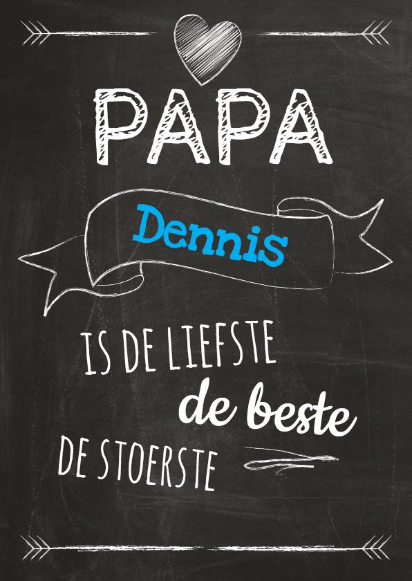 Vaderdag kaarten - Papa eigen naam op schoolbord