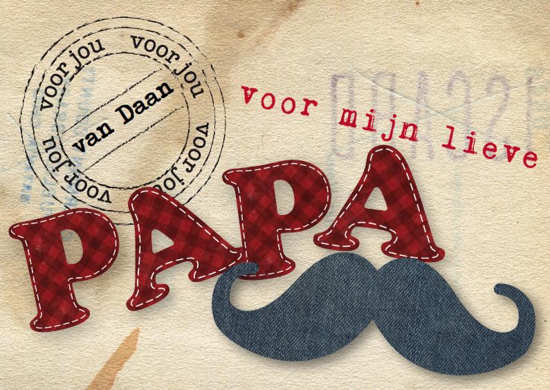 Vaderdag kaarten - Papa Postcard