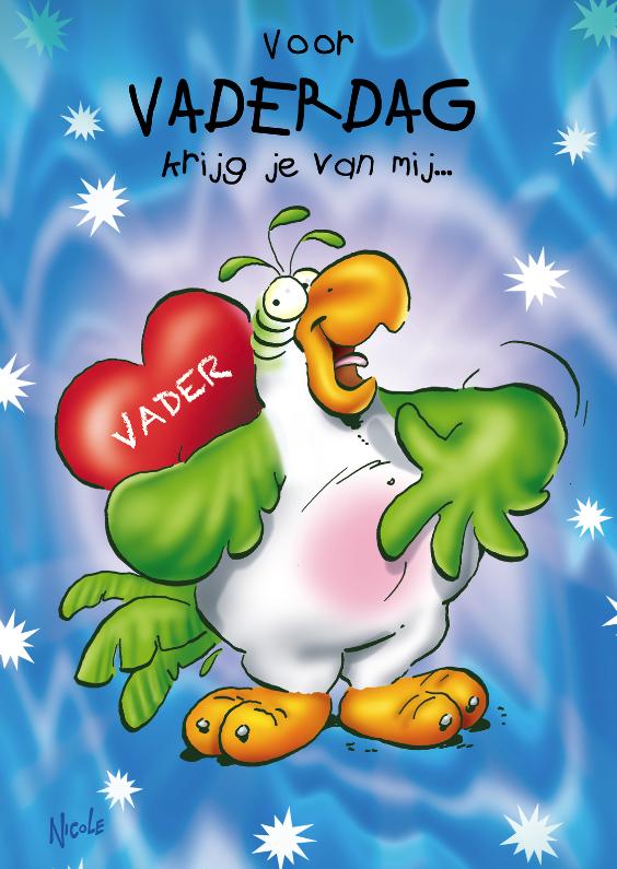 Vaderdag kaarten - rocco vaderdag 1 hart op rug