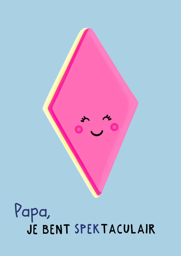 Vaderdag kaarten - Spectaculaire vaderdagkaart voor een vrolijke papa