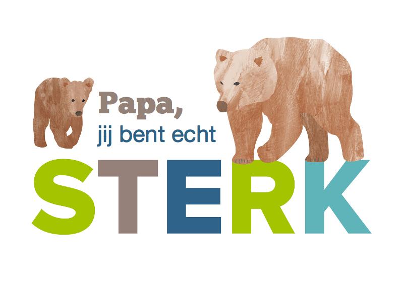 Vaderdag kaarten - Sterke papa met beren