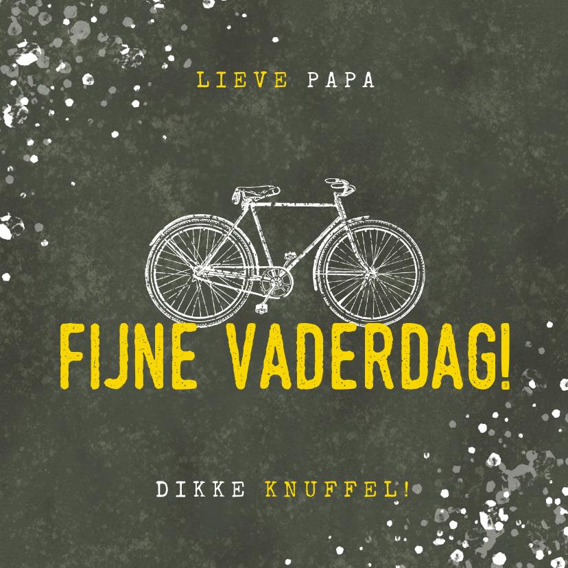 Vaderdag kaarten - Stoere vaderdag kaart fijne vaderdag met fiets en spetters