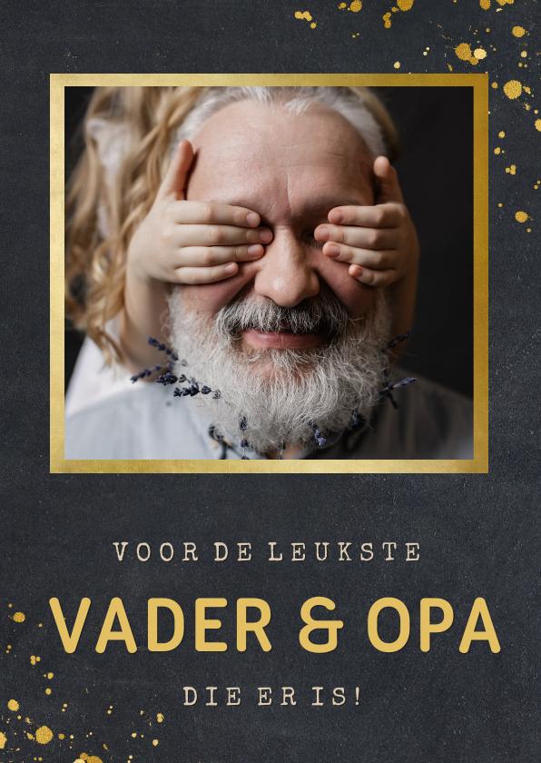 Vaderdag kaarten - Stoere vaderdagkaart met foto voor de beste vader en opa