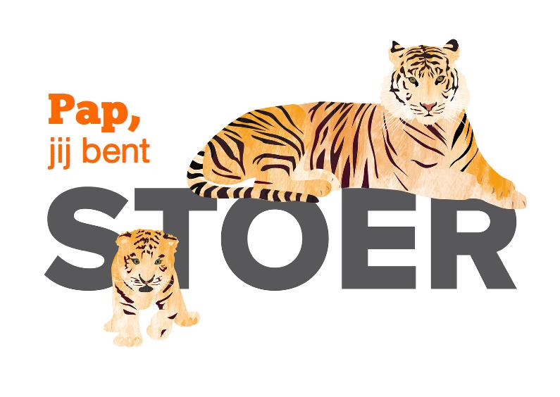 Vaderdag kaarten - Stoere vaderdagkaart tijger