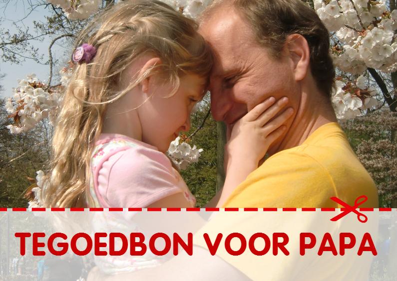Vaderdag kaarten - Tegoedbon voor papa