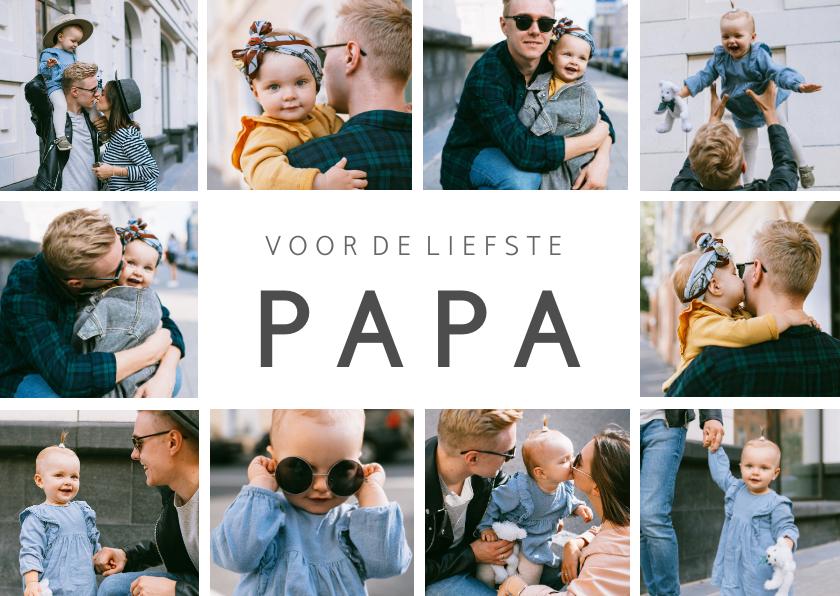 Vaderdag kaarten - Vaderdag fotocollage kaart met 10 eigen foto's en tekst