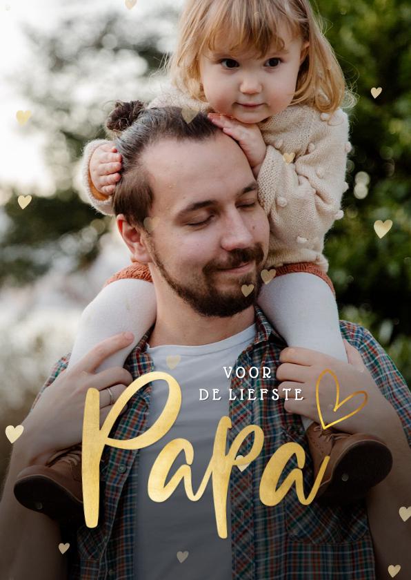 Vaderdag kaarten - Vaderdag fotokaart Papa met grote eigen foto