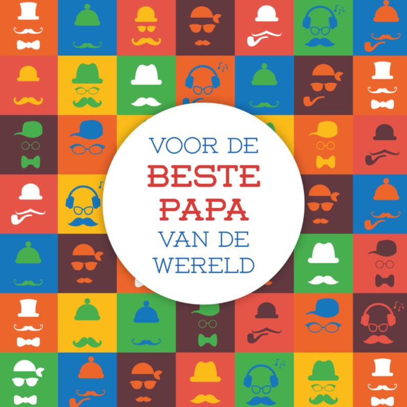 Vaderdag kaarten - Vaderdag gezicht 4