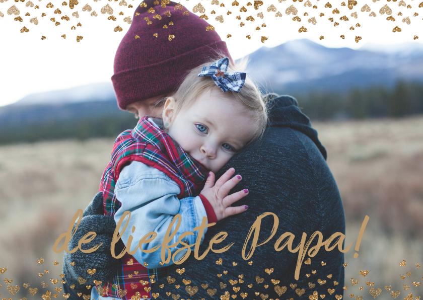 Vaderdag kaarten - Vaderdag hartjes kaart