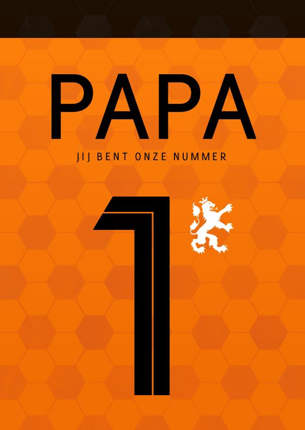 Vaderdag kaarten - Vaderdag kaart Nr. 1 - voetbalshirt Nederlands elftal