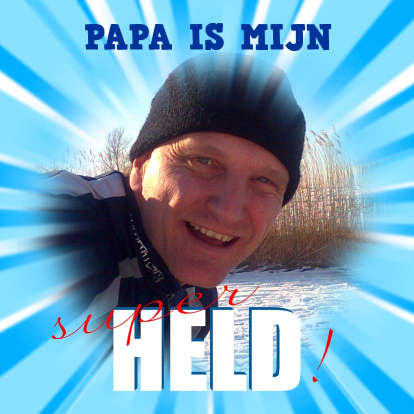 Vaderdag kaarten - Vaderdag Superheld Papa
