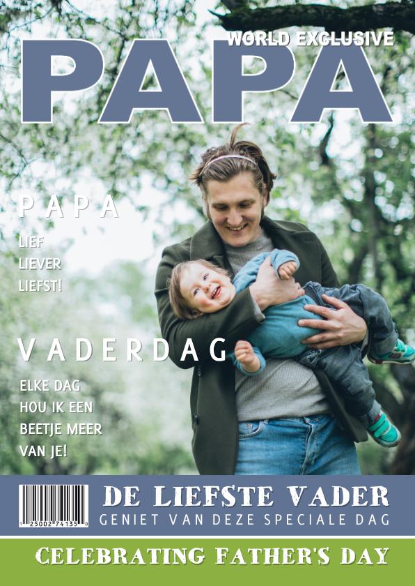 Vaderdag kaarten - Vaderdag Tijdschrift liefste PAPA Foto