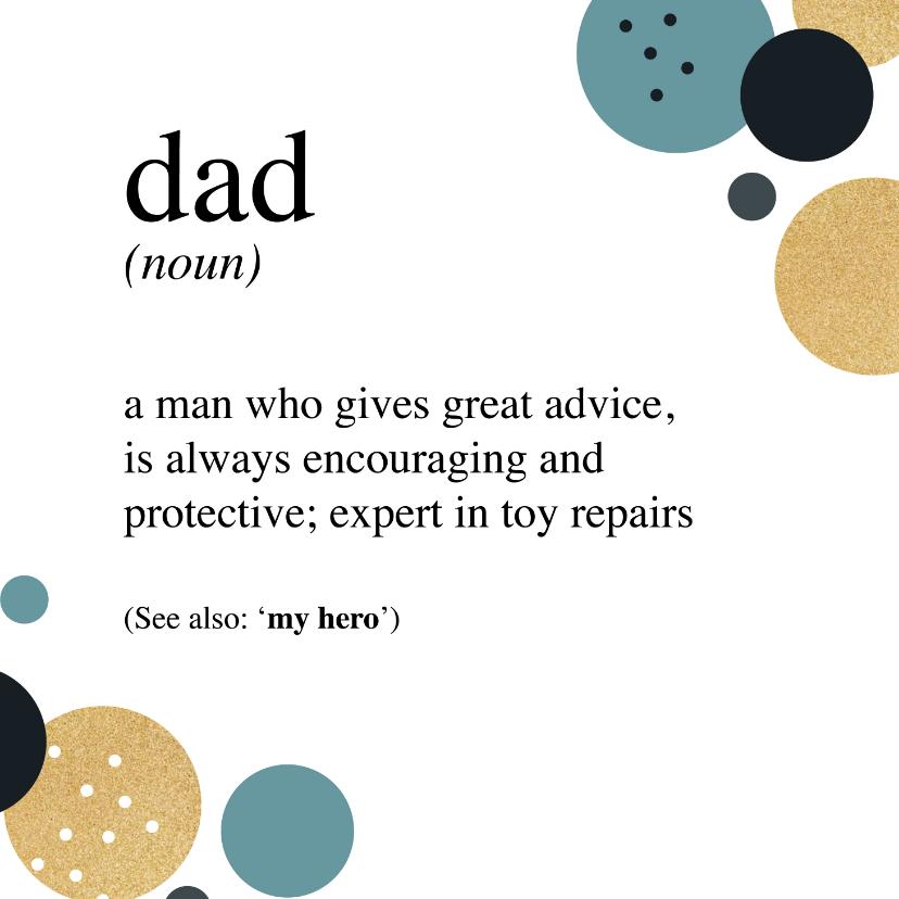 Vaderdag kaarten - Vaderdag vader definitie