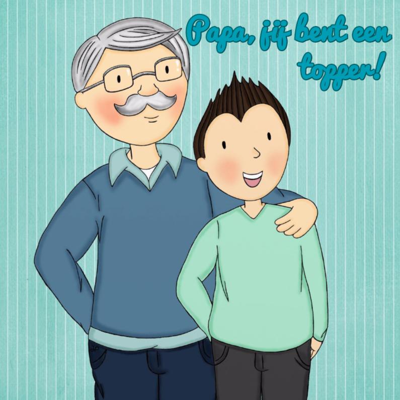 Vaderdag kaarten - Vaderdag Vader en Zoon - TbJ