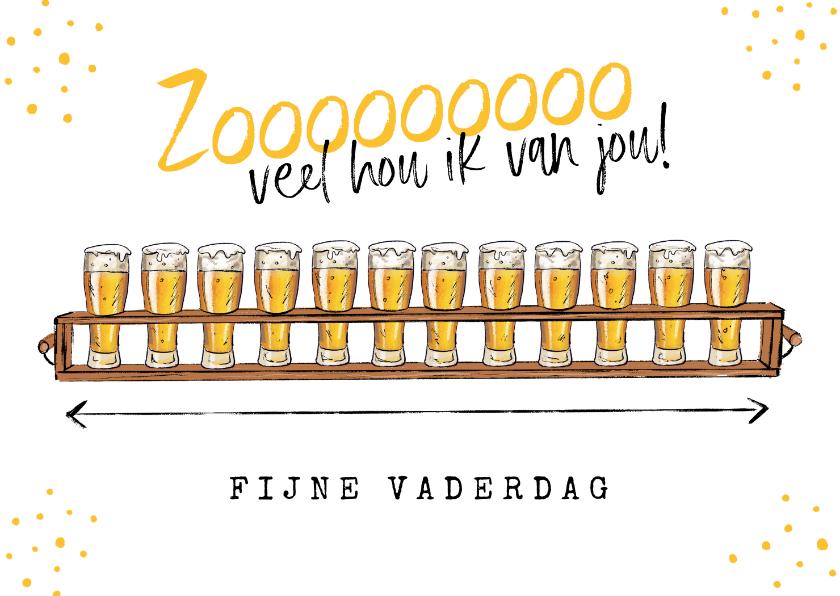 Vaderdag kaarten - Vaderdagkaart biertjes grappig humor fijne vaderdag