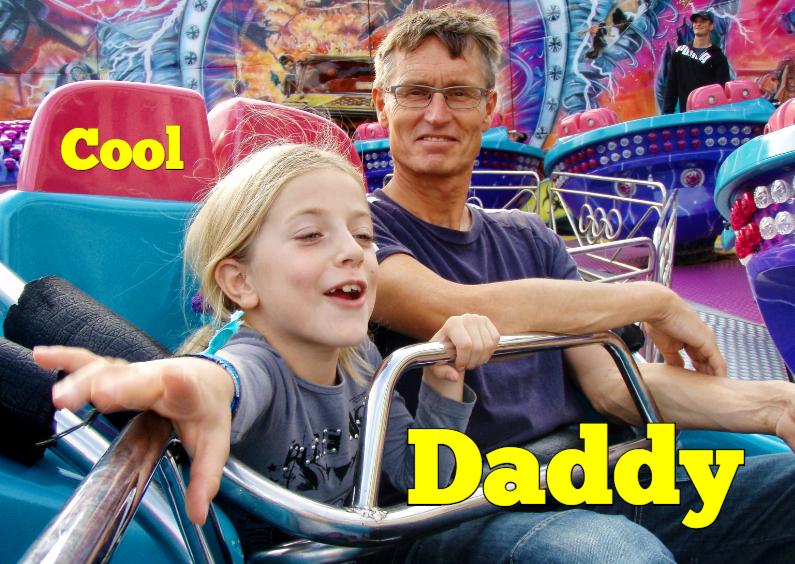 Vaderdag kaarten - Vaderdagkaart - cool daddy - OT