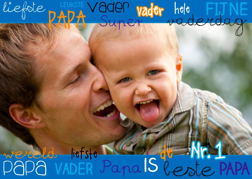 Vaderdag kaarten - Vaderdagkaart eigen foto