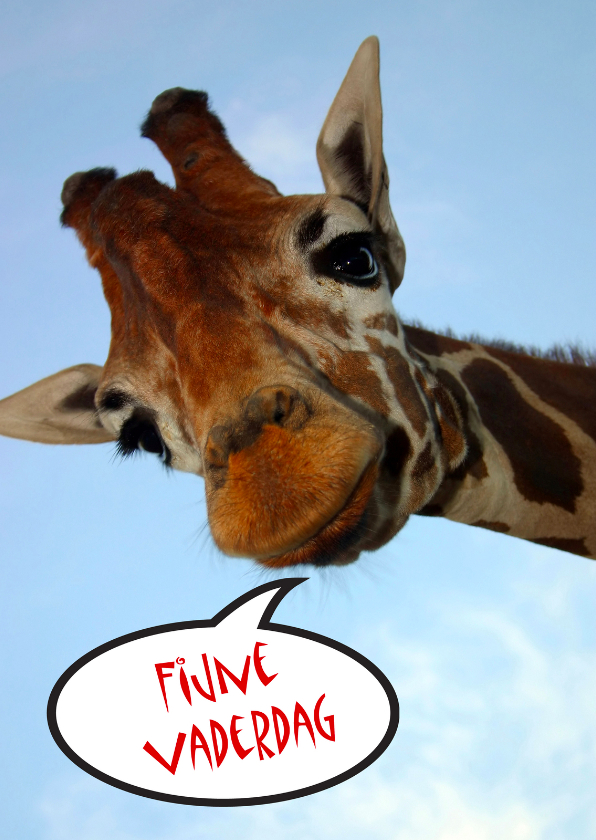 Vaderdag kaarten - Vaderdagkaart Giraf