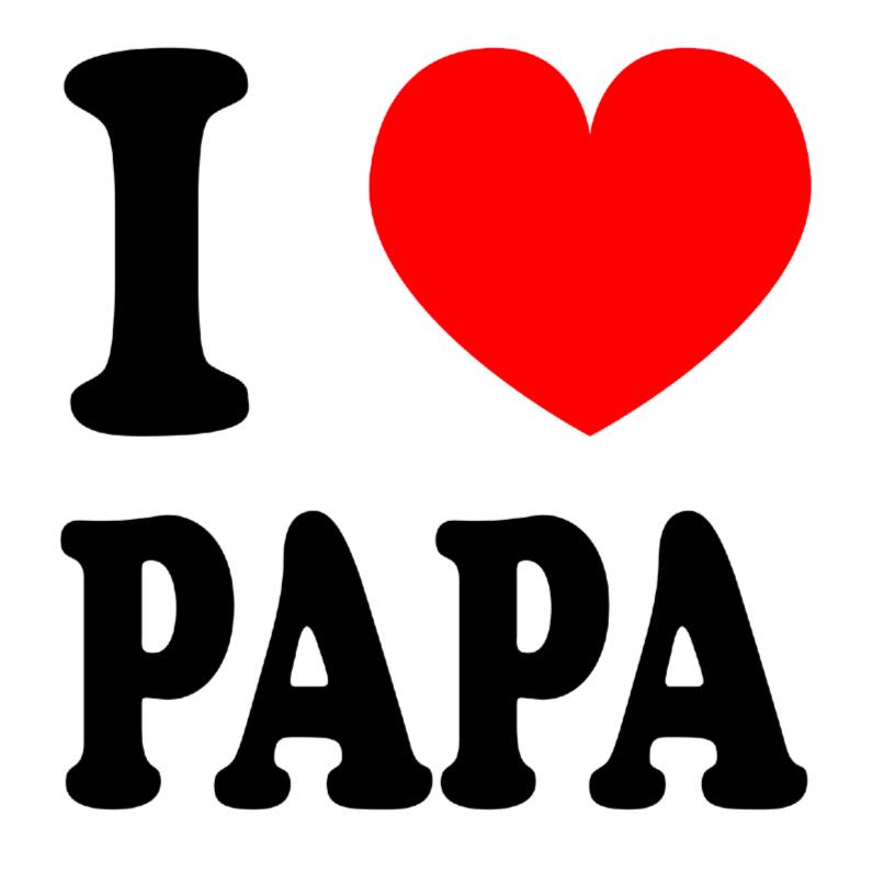 Vaderdag kaarten - Vaderdagkaart I love papa