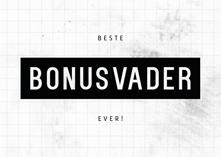 Vaderdag kaarten - Vaderdagkaart liggend beste bonusvader ever