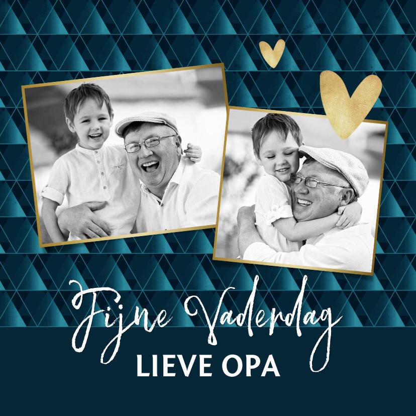 Vaderdag kaarten - Vaderdagkaart met collage voor opa