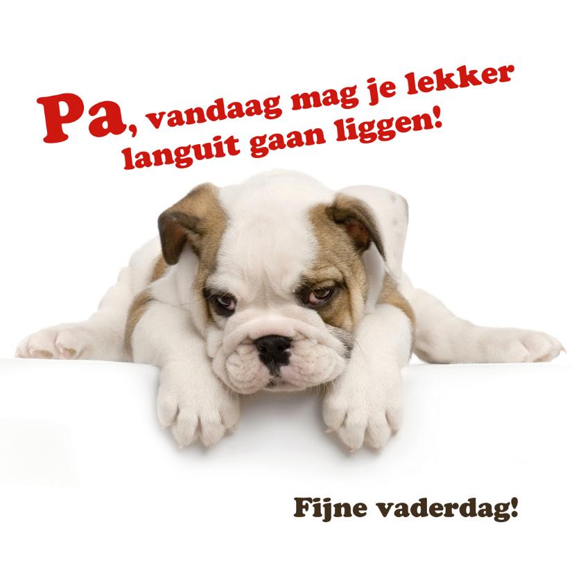 Vaderdag kaarten - Vaderdagkaart met lief hondje