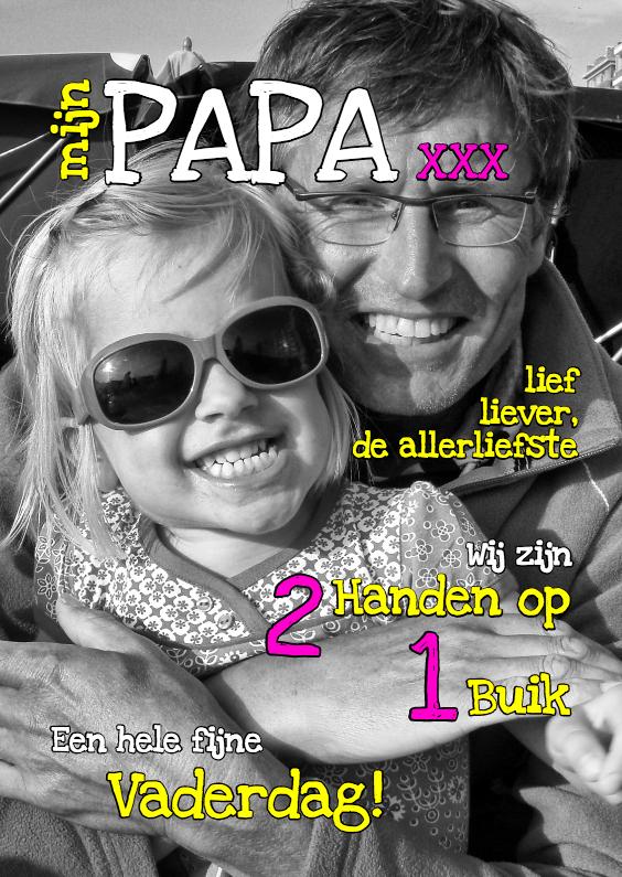 Vaderdag kaarten - Vaderdagkaart - mijn papa 1 - OT