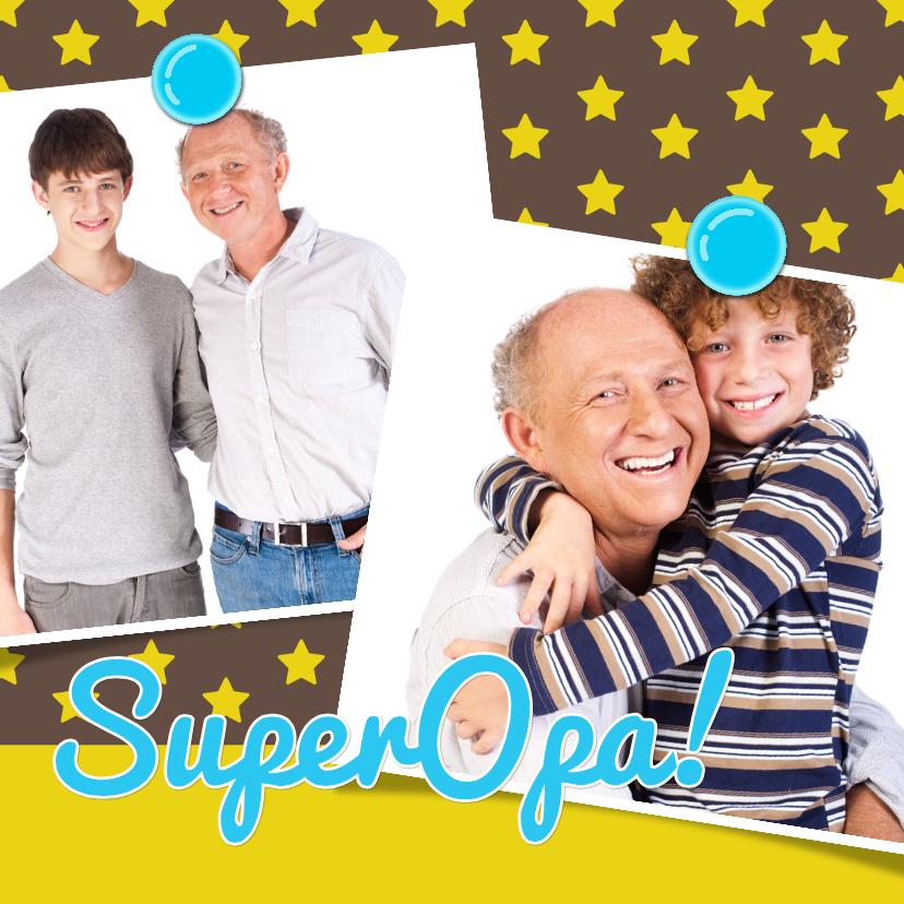Vaderdag kaarten - Vaderdagkaart Opa Vrolijk ster