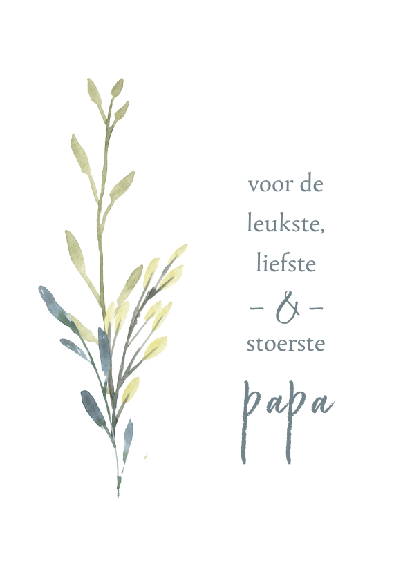 Vaderdag kaarten - Vaderdagkaart takjes, aanpasbare tekst