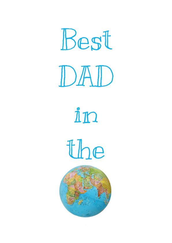 Vaderdag kaarten - Vaderdagkaart World
