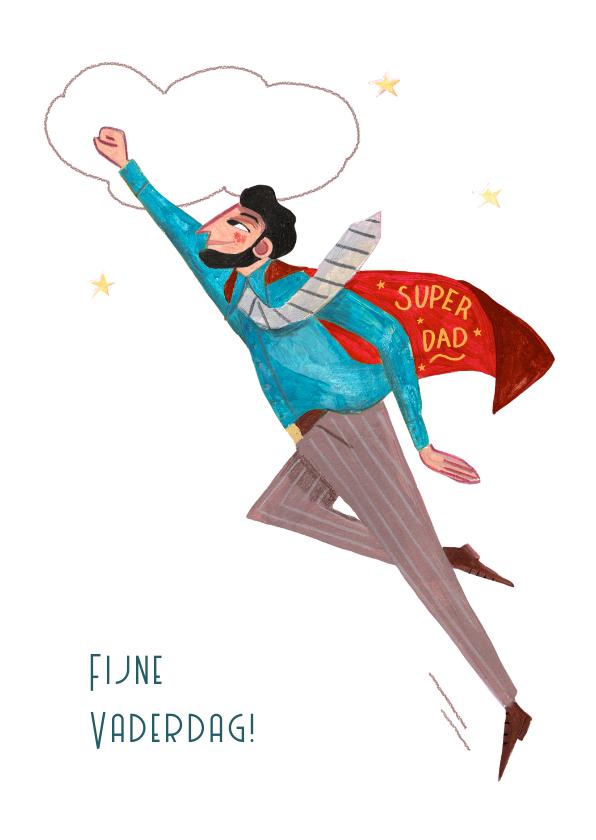Vaderdag kaarten - Vaderdagskaart met superheld papa